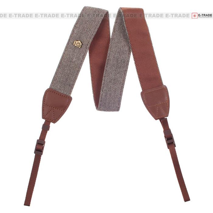 Brown Retro Camera Shoulder Neck Belt Strap For SLR DSLR Camera 90-130cm