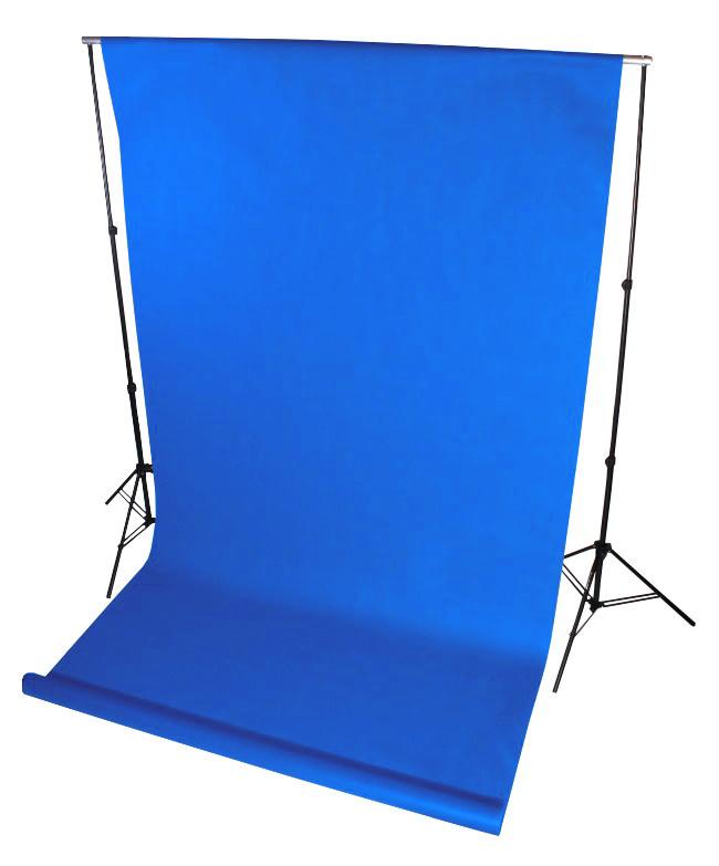 tło fotograficzne na tulejce niebieskie